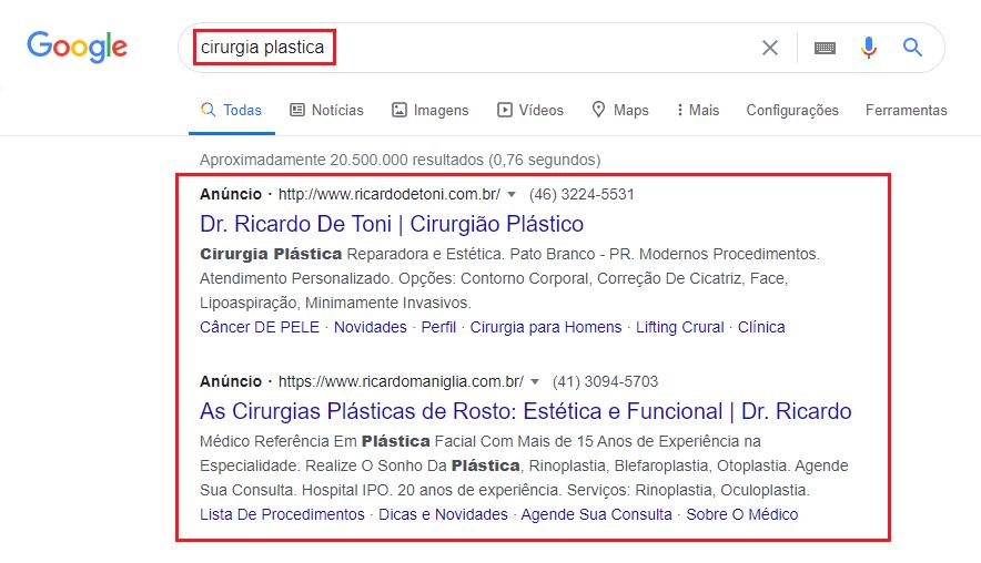 divulgar clínicas médicas no google