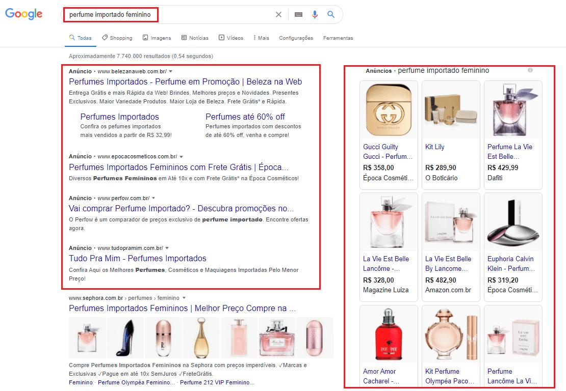 anunciar perfumes e perfumarias