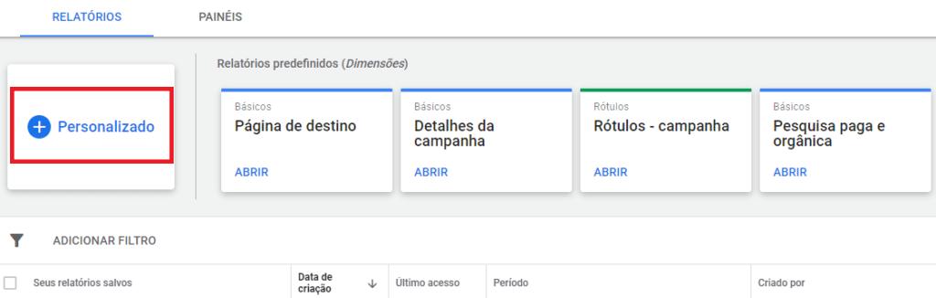 editor de relatórios google ads