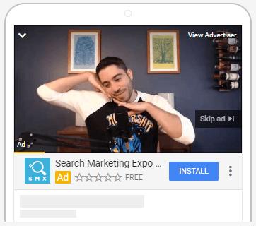 Vídeos em Anúncios de Aplicativos