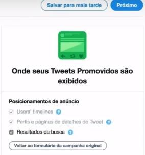 Onde anúncios são exibidos no Twitter