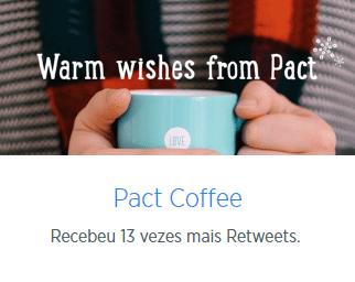 Campanhas engajamento da Pact Cafe no Twitter Ads