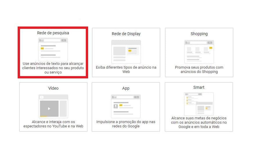 Tipos de campanhas do Google Ads - Rede de Pesquisa - Clinks