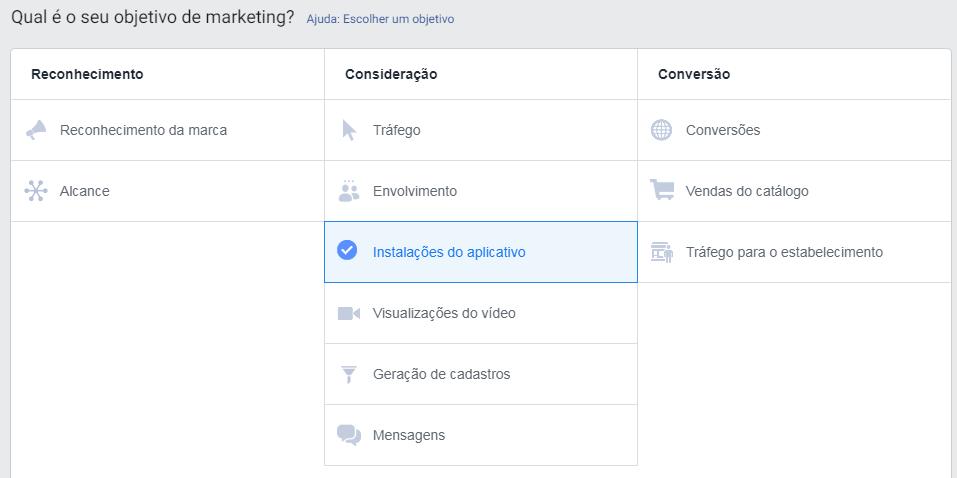 objetivo marketing anunciar facebook