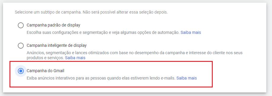 campanha do gmail