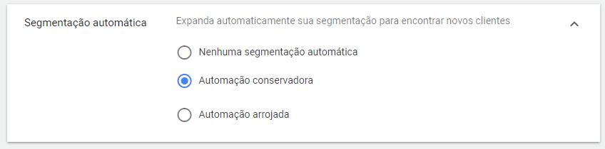 segmentação automática campanha do gmail