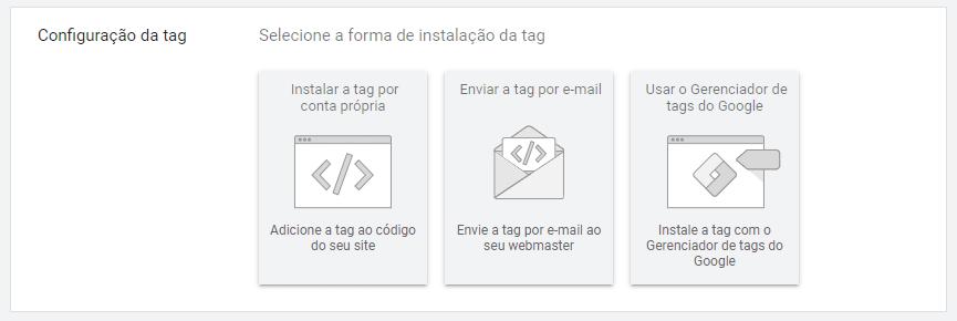 configuração tag de conversão